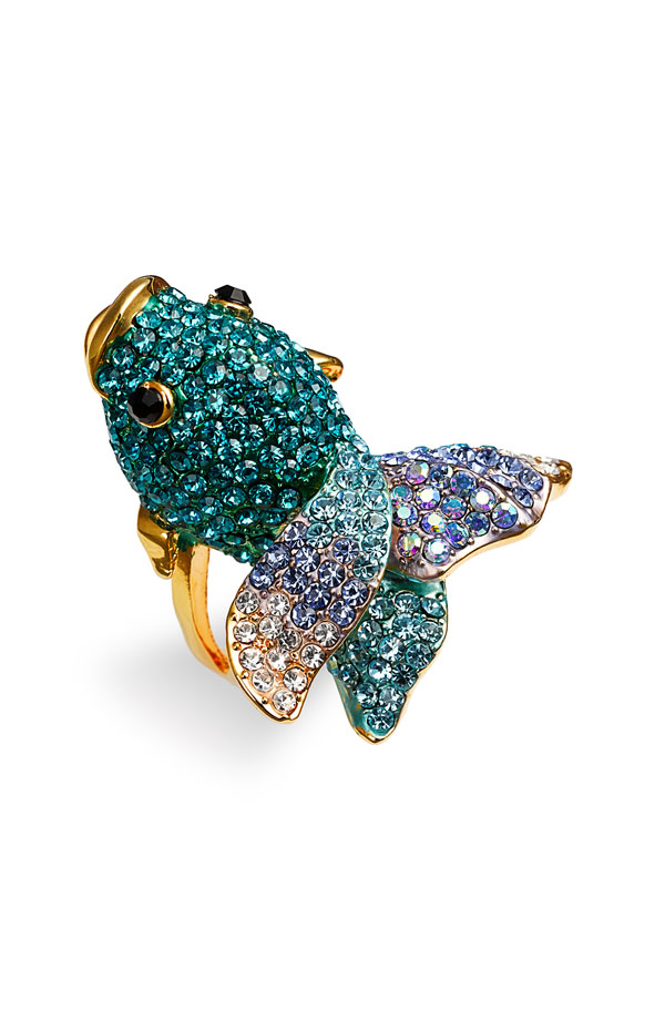 ring-fish-42 69 Dress Jewelry Pieces in the Shape of Your Favorite Animal