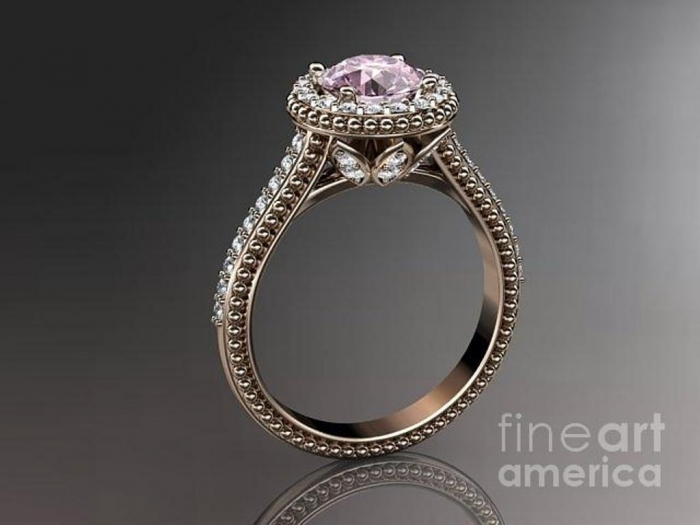 rose-gold-diamond-floral-wedding-ring-engagement-ring-with-pink-topaz-center-stone-adlr101-anjaysdesigns-com Pink Topaz Jewelry as a Romantic Gift