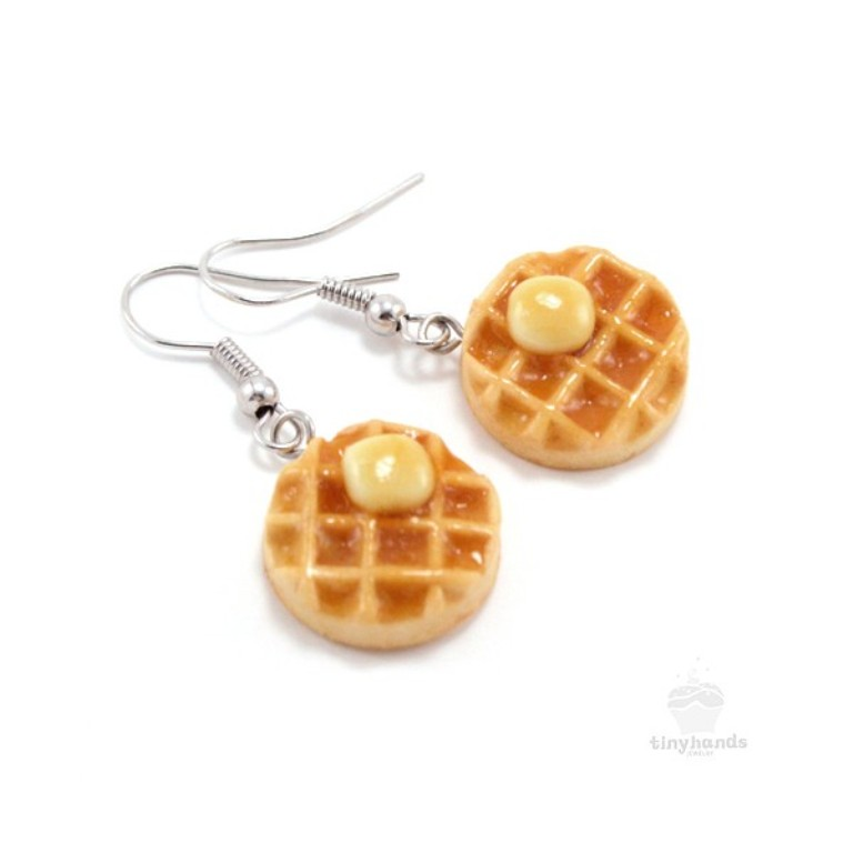 scented-maple-syrup-butter-on-waffle-earrings Aromatic Jewelry for a Fashionable Look & Fresh Smell All the Time