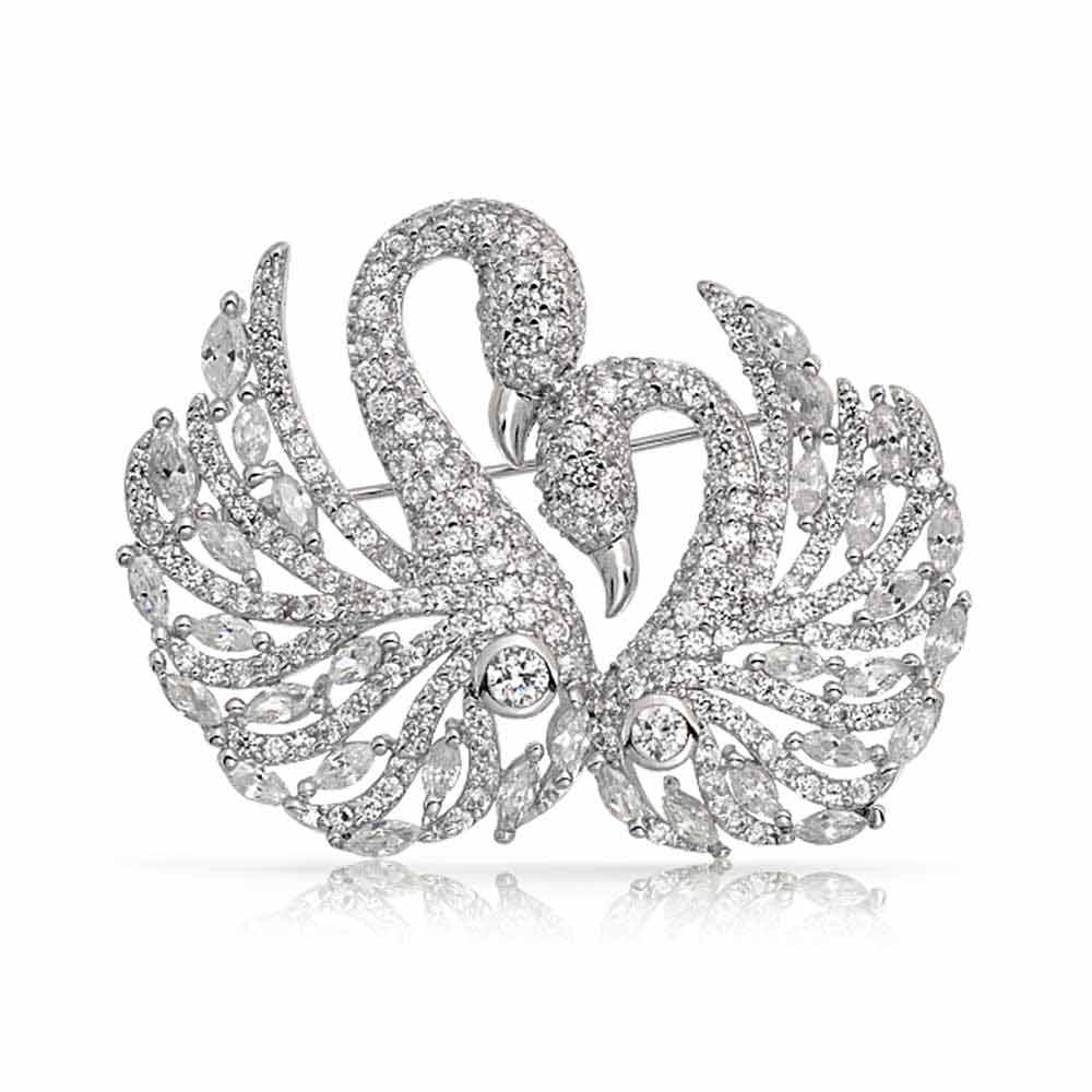 silver-pin-double-swan-cz_hcl-lp-90257-b Complete Your Look and Prove Yourself with Brooches and Pins