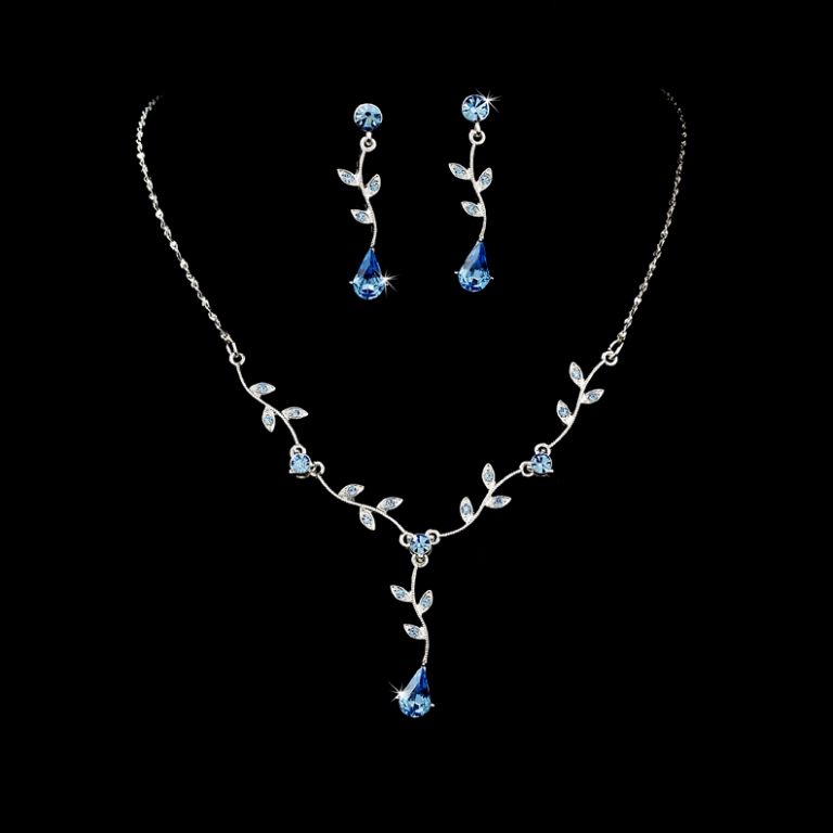 silver_lt_blue_dangle_floral_bridal_jewelry_set_wf328 How to Choose Bridal Jewelry for Enhancing Your Beauty