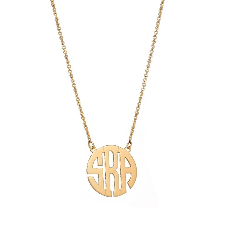 small-block-mono-necklace-gold Express Your Love by Presenting Monogram Jewelry