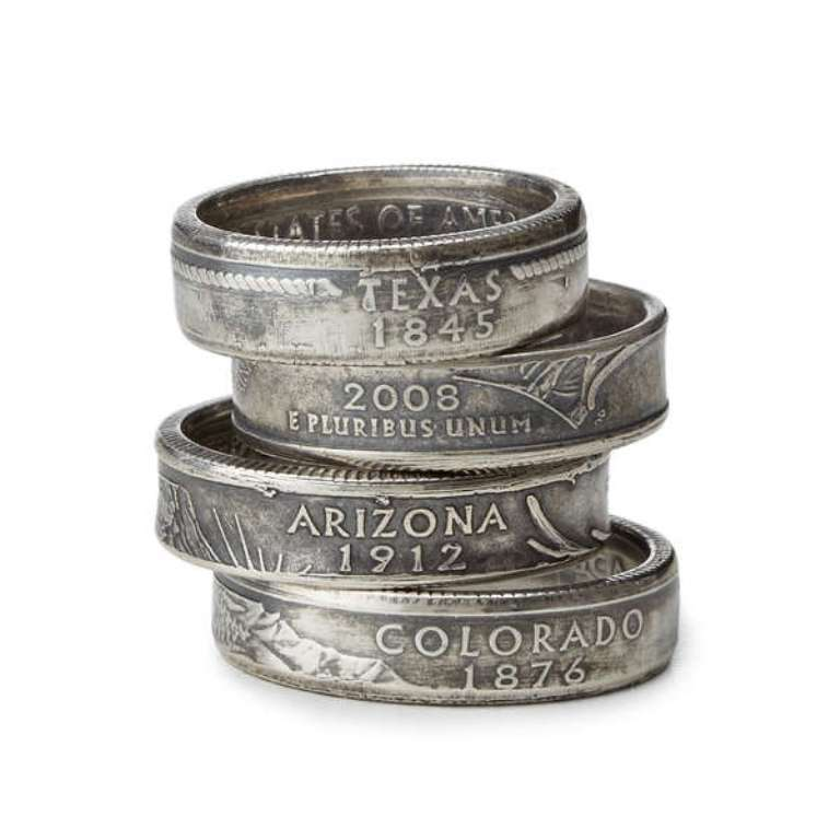 state-quarter-ring 25 Unique & Fashionable Coin Jewelry Pieces