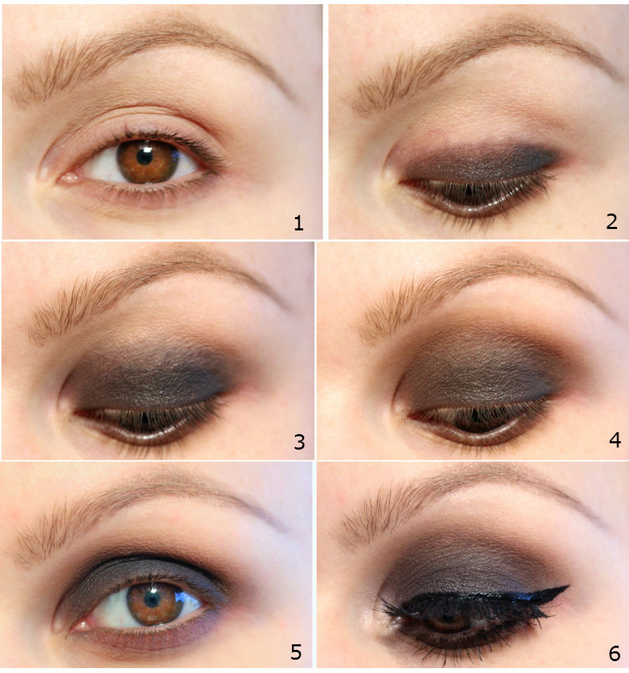 step-brown-smokey-eye-makeup How to Wear Eye Makeup in six Simple Tips