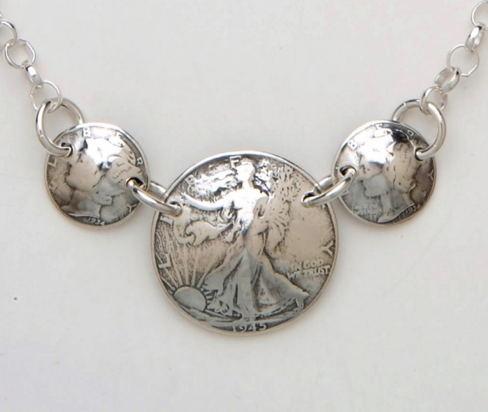 three-coin-necklace 25 Unique & Fashionable Coin Jewelry Pieces