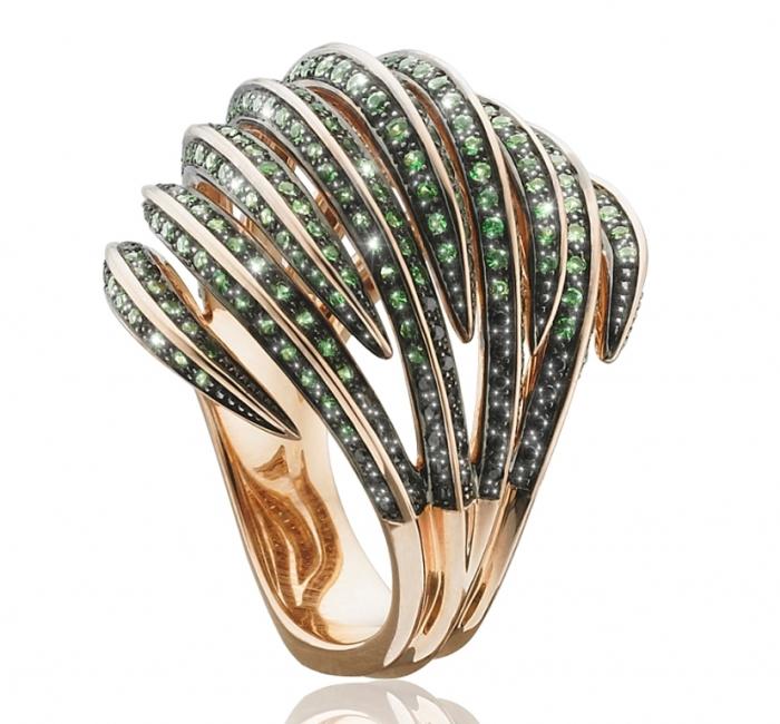 tomasz_donocik_venus_fly_trap_-_bombay_ring._tsavorite-rosegold_frg1_ts-bkd-rg_main Tsavorite as a Strong Competitor to Emerald