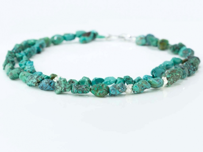 turquoise-necklace-natural-shapes-silver-clasp-blue-green-adfk-jewellery-969-on-white-lying-zoom Meanings & Qualities which Are Associated with Birthstones