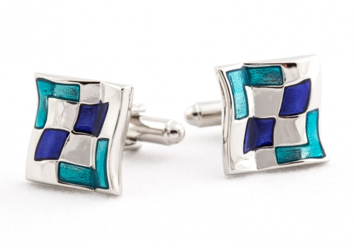 wavy-blue-cufflinks-5 Cufflinks: The Most Favorite Men Jewelry