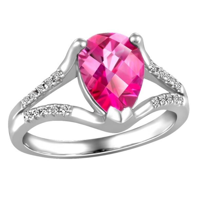 white-gold-diamond-and-pink-topaz-ring-rin-lgm-2660 Pink Topaz Jewelry as a Romantic Gift