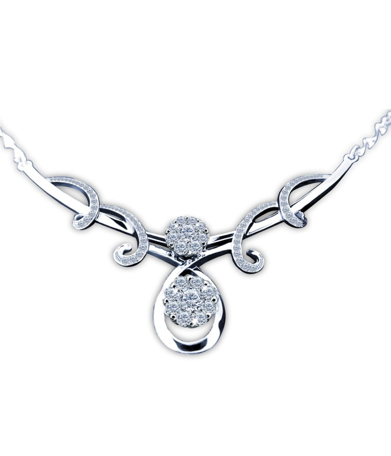 white-gold-diamond-necklaces-2 White & Yellow Gold, Which One Is the Best?