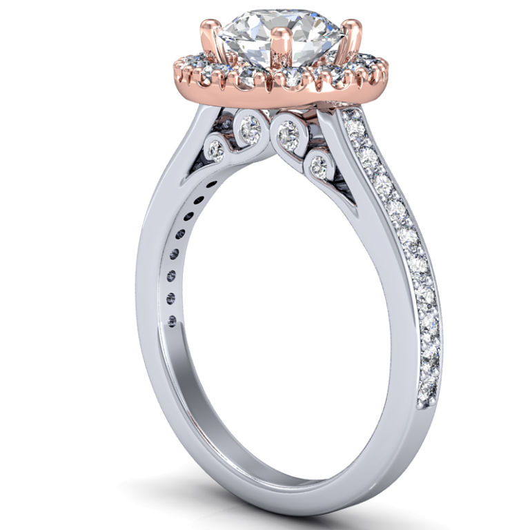 white-rose-gold-engagement-rings Easy Tricks to Make Your Diamond Look Larger