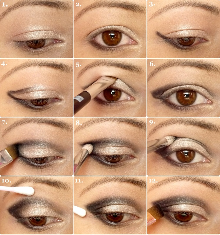 winged-eyeshadow-tutorial How to Wear Eye Makeup in six Simple Tips