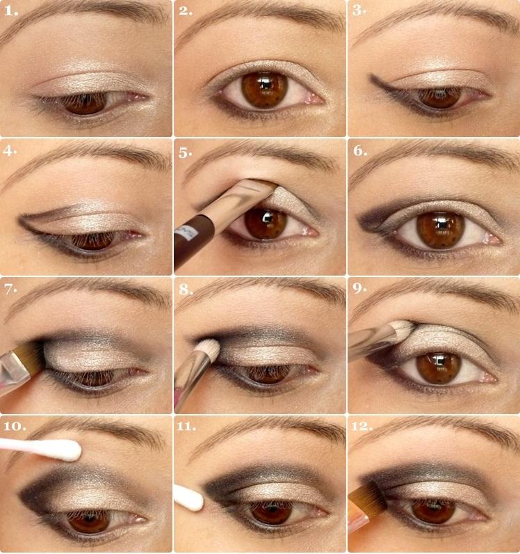 winged-eyeshadow-tutorial How to Wear Eye Makeup in six Simple Tips