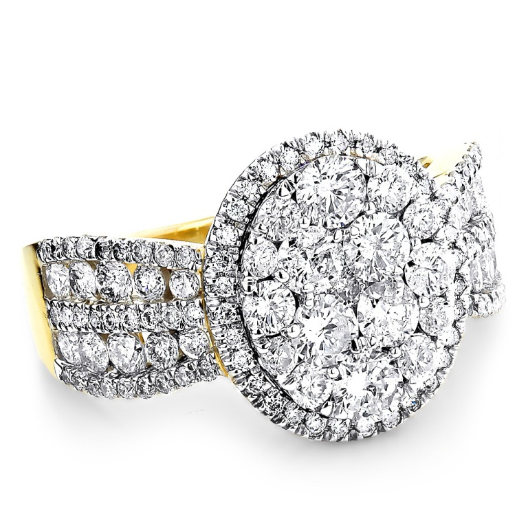 womens-diamond-cluster-rings-26ct-14k-gold-diamond-engagement-ring_1 Cluster Engagement Rings for Those who Are on a Budget