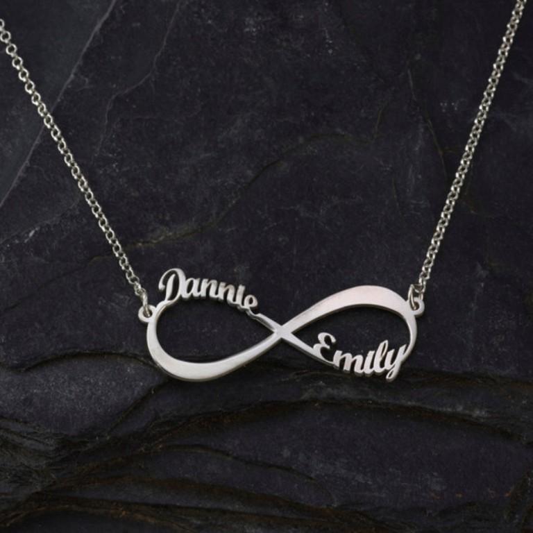 x02qmk-l-610x610-jewels-infinity-necklace-infinity-jewelry-personalized-jewelry-personalized-necklace-personalized-initial-personalized-silver-pendent Infinity Jewelry to Express Your True & Infinite Love