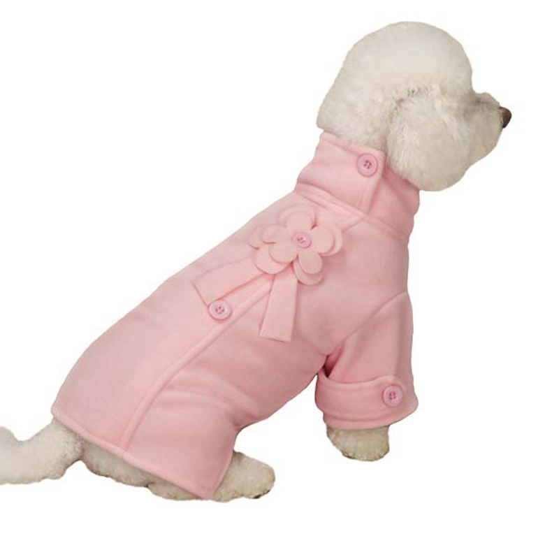 zack-zoey-fleece-flower-dog-jacket-pink-1 Top 35 Winter Clothes for Dogs