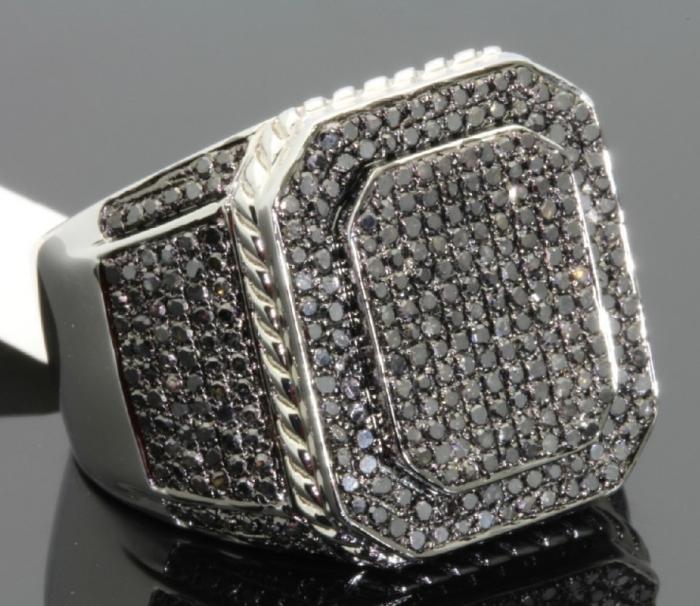 0000121_213-carat-mens-100-genuine-black-diamond-ring Men's Diamond Rings for More Luxury & Elegance