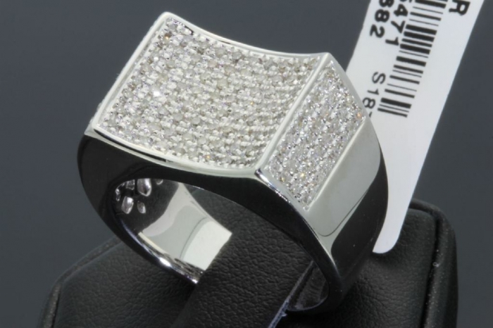 0000132_84-carat-mens-100-genuine-diamond-ring Men's Diamond Rings for More Luxury & Elegance