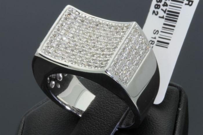 0000132_84-carat-mens-100-genuine-diamond-ring Men's Diamond Rings for More Luxury & Elegance