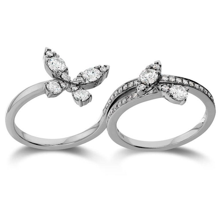 0131731 Double Finger Rings for Elegant Hands