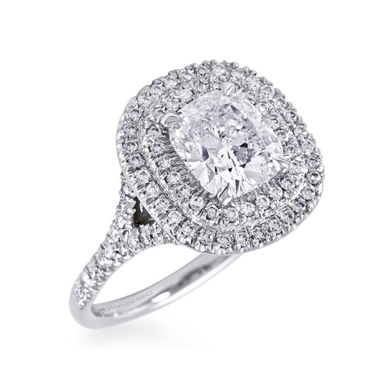 06-engagement-rings-under-10K-diamond-ideals Cushion Cut Engagement Rings for Beautifying Her Finger
