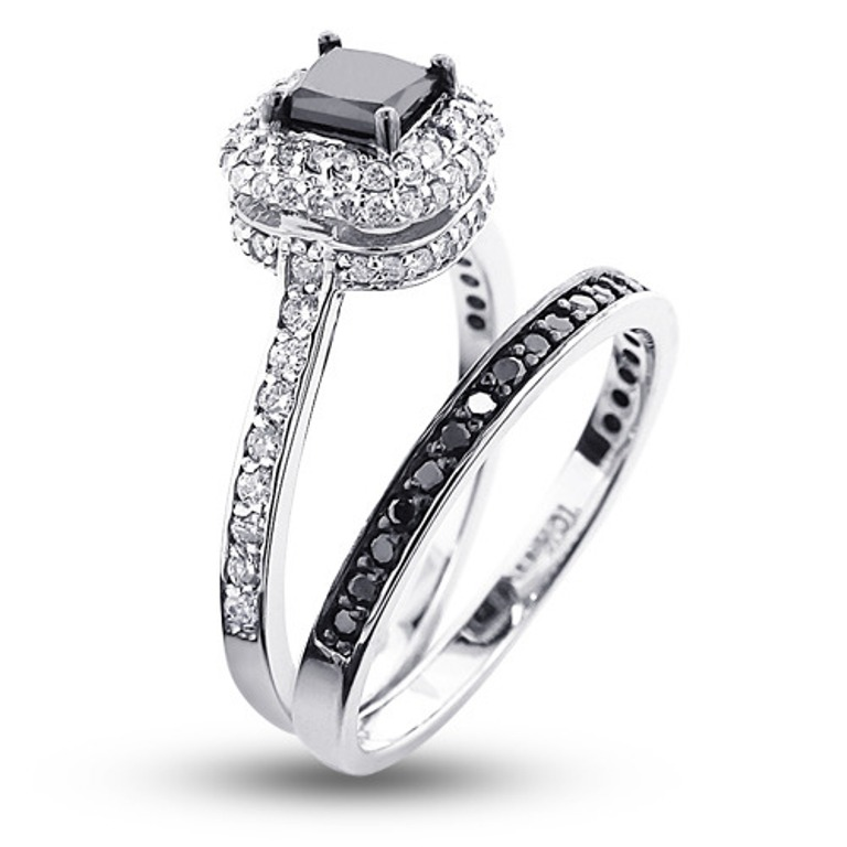 10k-gold-black-diamond-unique-bridal-engagement-ring-set-119ct_2 How to Select the Best Engagement Ring