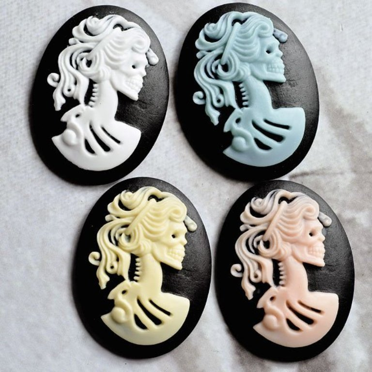 13-18mm-Cabochon-Resin-flower-cameo-resin-skull-necklace-flower-pendants-for-DIY-Jewelry-decoration-flat Skull Jewelry for Both Men & Women