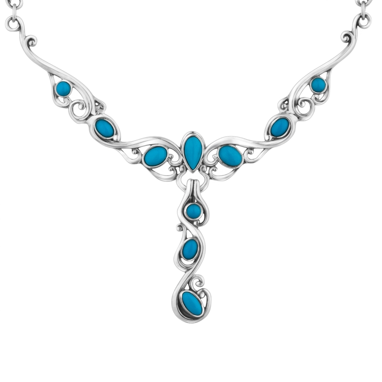 """1_30170_ZM_Sleeping-Beauty-Turquoise-Statement-Necklace Turquoise jewelry """" The Stone of the Sky & Earth"""""""