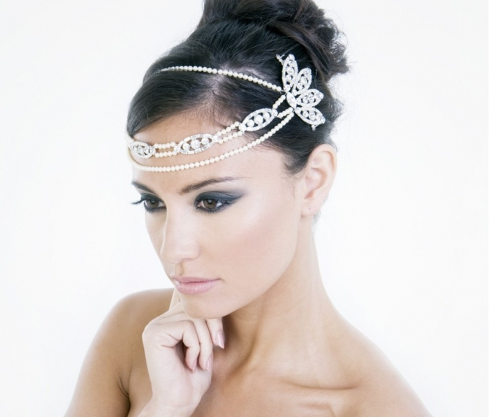 "2-new-stylish-wedding-headpiece-2014-ideas ""Wedding Headbands"" The Best Choice for Brides, Why?!"