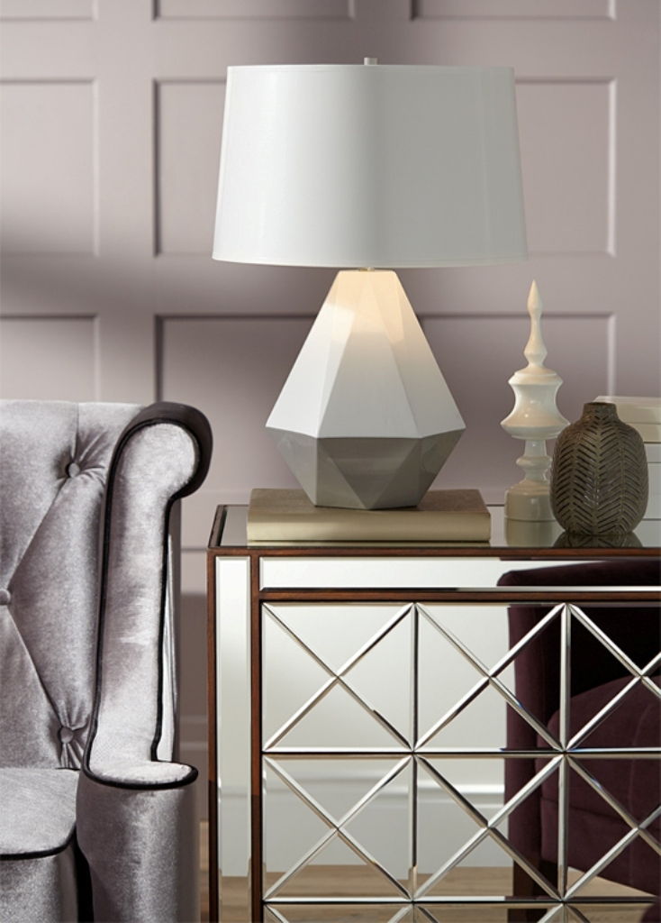 2013-10-21-fallhomedecortrendgeometriclamp Forecasting--> 25+ Hottest Trends in Home Decoration 2019