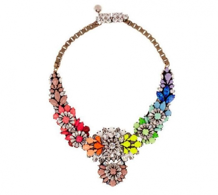 2013-Fashion-statemtn-necklace-shourouk-clear-PVC-bid-necklace-font-b-rainbow-b-font-embroidered-with 25 Mysterious Rainbow Jewelry Designs