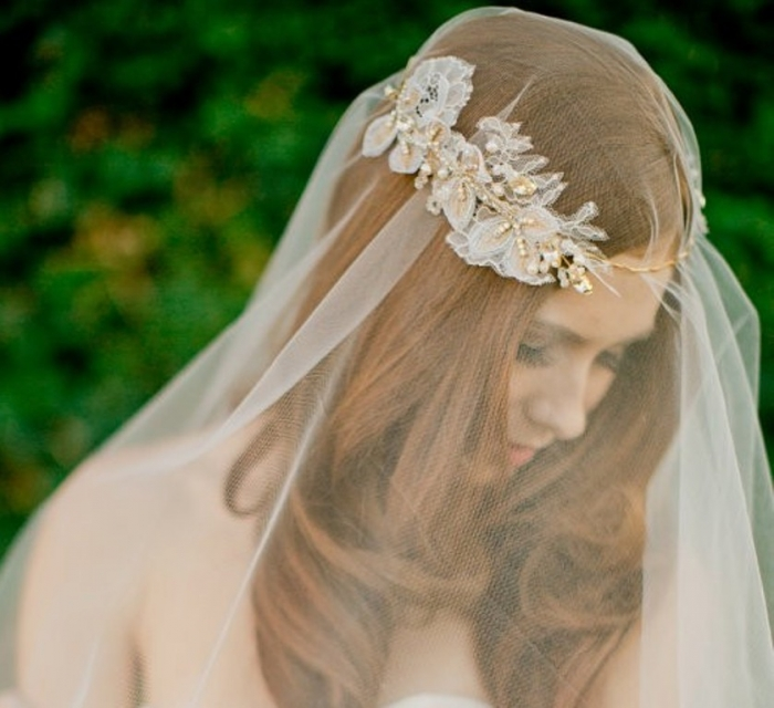 """2014-ivory-bridal-tiara-wedding-hairstyle-with-tiara-crystal-gold-wedding-headpiece-f72867 """"Wedding Headbands"""" The Best Choice for Brides, Why?!"""