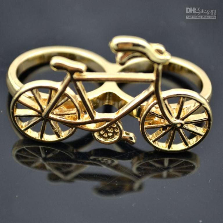 24pcs-bicycle-lovely-bike-two-finger-rings1 Double Finger Rings for Elegant Hands