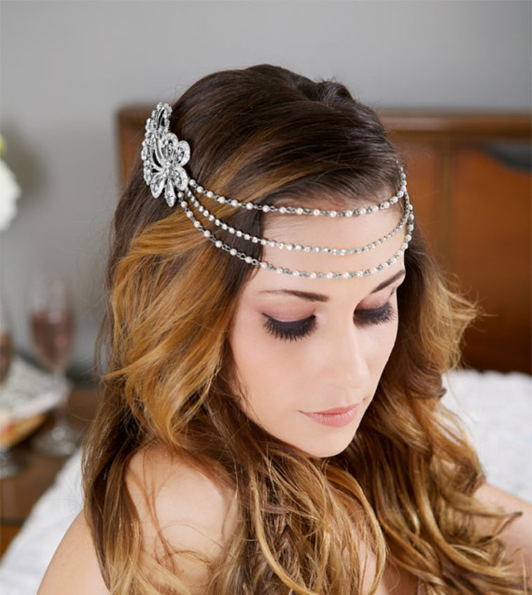 "3-silver-wedding-headband-halo ""Wedding Headbands"" The Best Choice for Brides, Why?!"