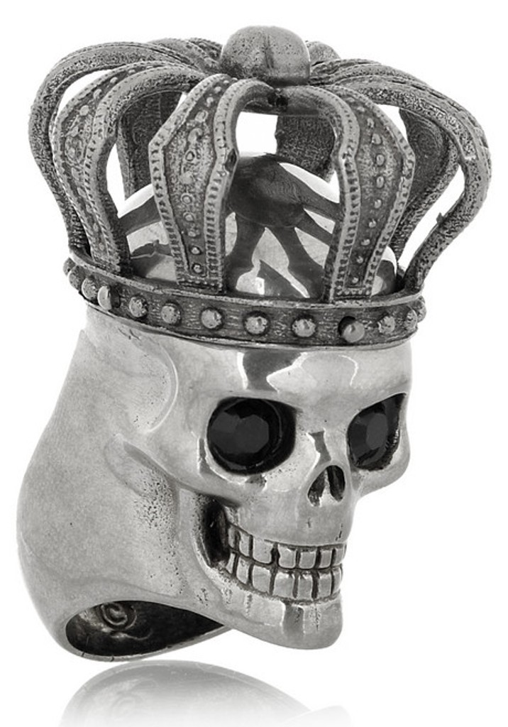 Alexander-McQueen-Swarovski-crystal-crowned-skull-ring7 Skull Jewelry for Both Men & Women