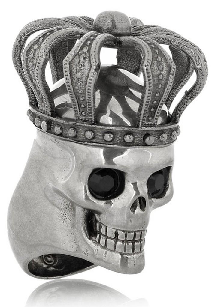 Alexander-McQueen-Swarovski-crystal-crowned-skull-ring7 Skull Jewelry for Both Men & Women