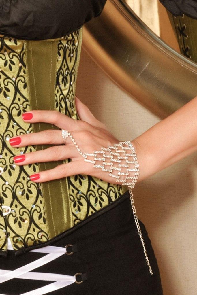 Block-Rhinestone-Bracelet 20+ Hottest Christmas Jewelry Trends 2020