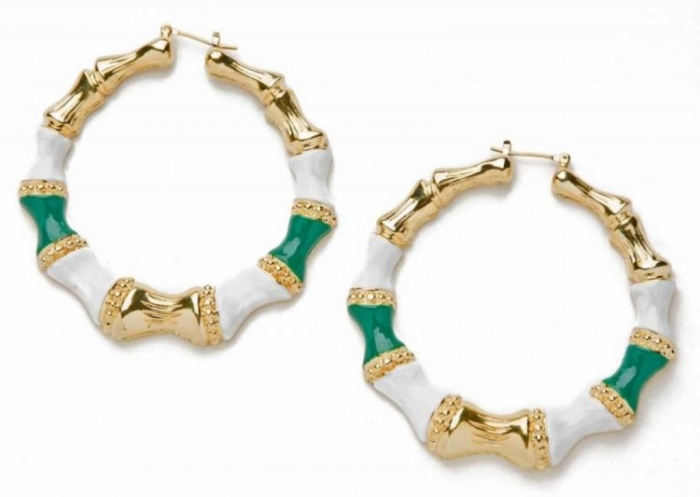 CC-Skye-Enamel-Bamboo-Hoops-in-Green 20+ Hottest Christmas Jewelry Trends 2019