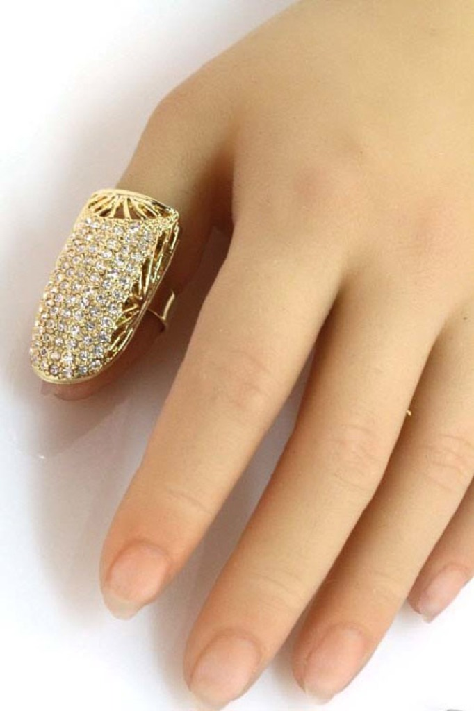 Crystal-Encrusted-Thumbnail-Ring The Meanings of Wearing Rings on Each Finger