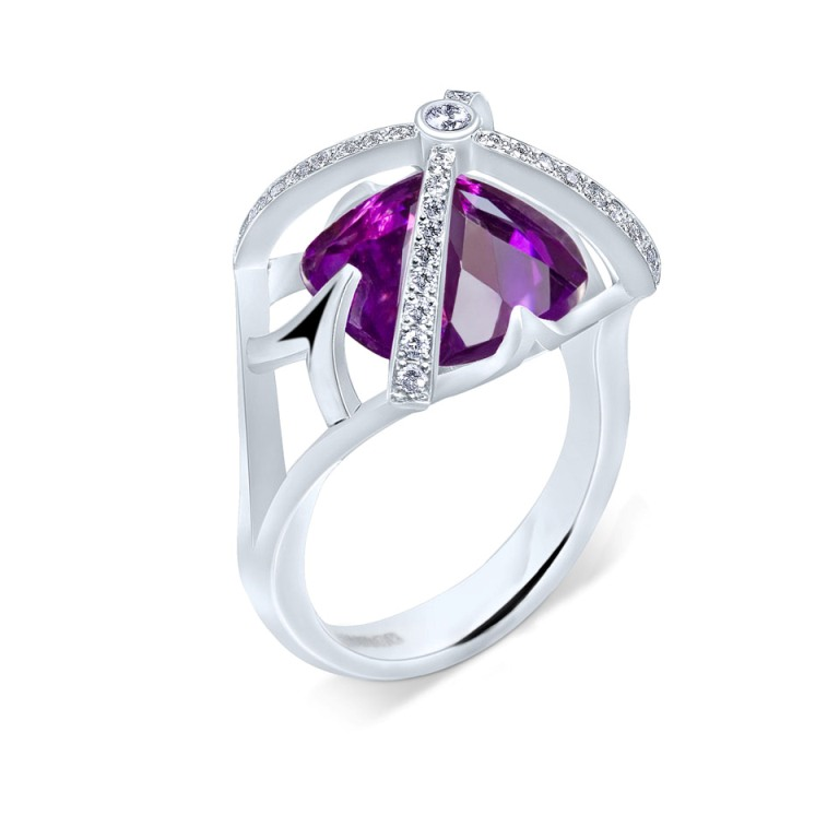Dark-Romance-Vaulted-Amethyst-Ring The Meanings of Wearing Rings on Each Finger