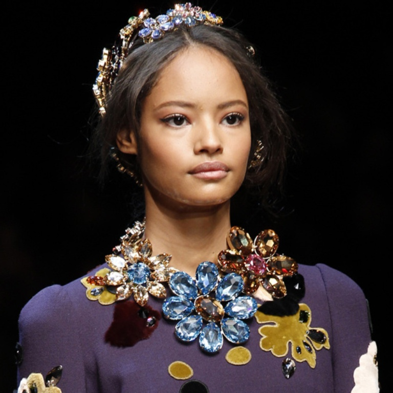 Dolce-Gabbana-Crystal-flowers-Necklace 20+ Hottest Christmas Jewelry Trends 2019