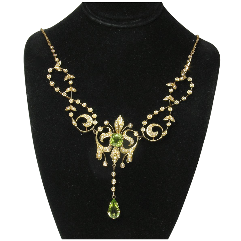 DupPeridSPNecklace.1L Most Exclusive Peridot Jewelry that Shines Even at Night