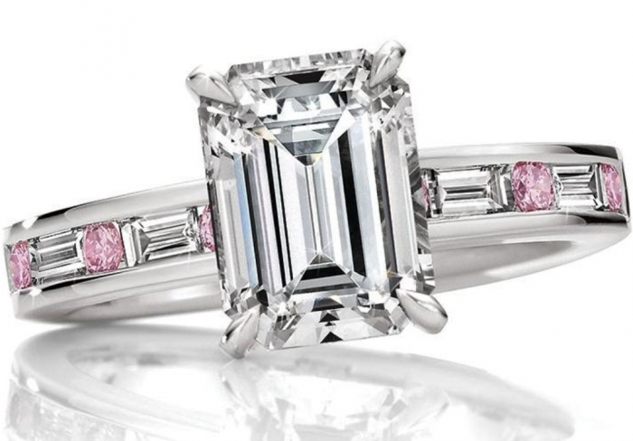 ES1104-1 Most Famous Romantic & Unique Jewelry with Pink Diamonds