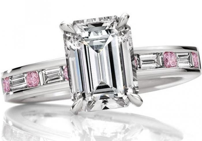ES1104-1 Most Famous Romantic & Unique Jewelry with Pink Diamonds