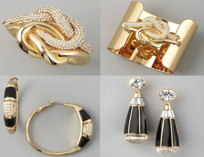 Fashion-Jewelry-Gold-Bracelet-Earring Get a Royal & Fashionable Look with Costume Jewelry