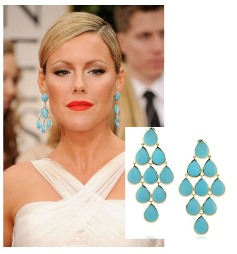 """Golden-Globes-2012-style-the-look-adorn-london-jewellery-blog Turquoise jewelry """" The Stone of the Sky & Earth"""""""