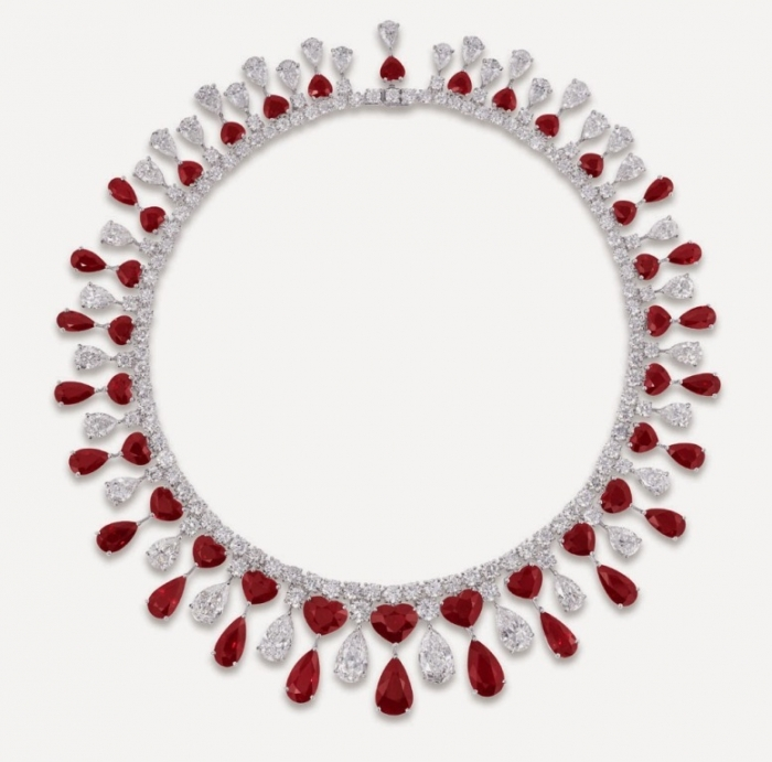 Graff-Ruby-Heart+PS-and-Diamond-fringe-necklace How to Find Pure Ruby