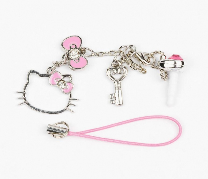 Hello-Kitty-Cell-Phone-Charm-Pink Mobile Phone Charms to Renew Your Mobile Phone