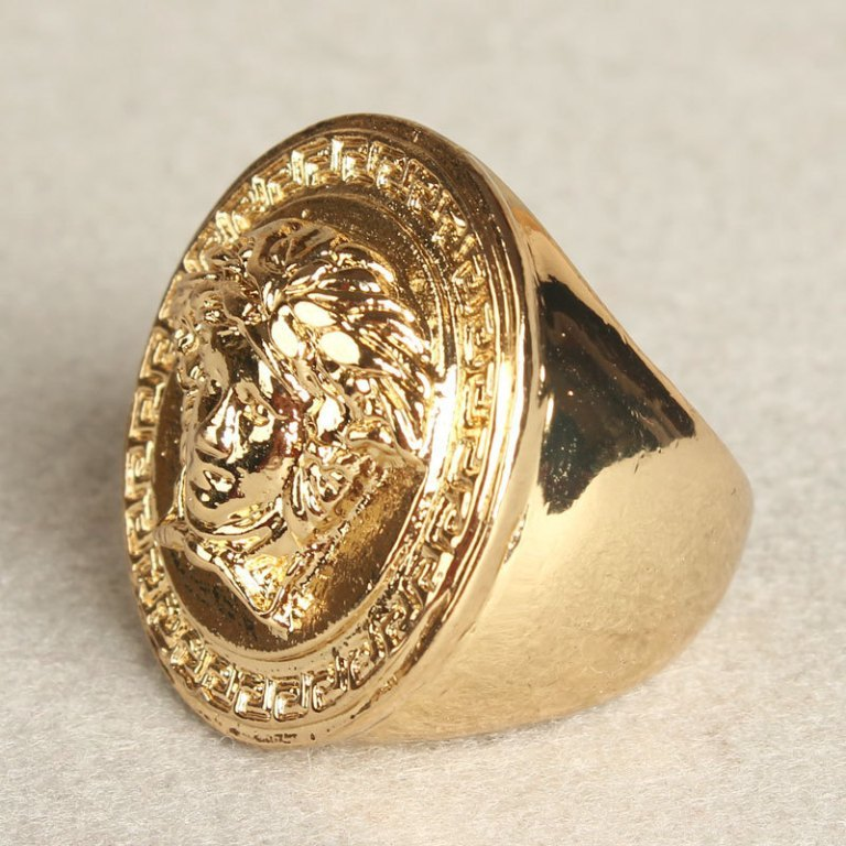 Hot-sale-New-2014-Super-domineering-High-Quality-Mens-Rings-gold-plated-ring-36g-18k-gold Hip Hop Jewelry to Attract More Attention
