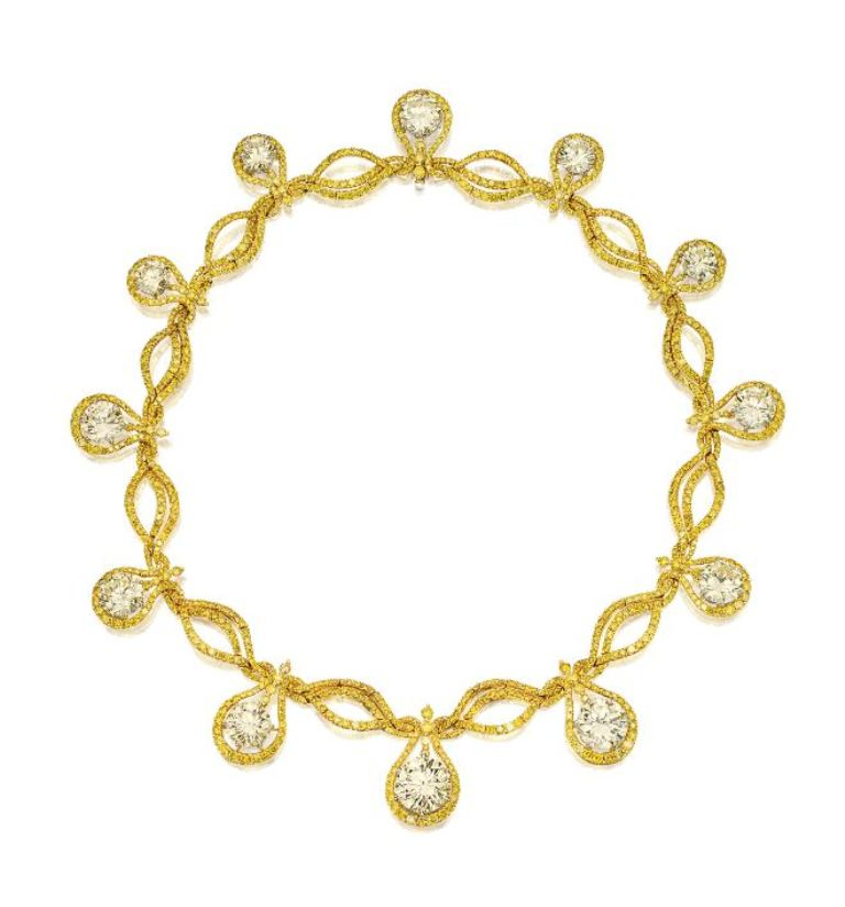 IMPRESSIVE-DIAMOND-AND-YELLOW-DIAMOND-DEMI-PARURE-JACOB-CO.-Sothebys The Rarest Yellow Diamonds & Their Breathtaking Beauty
